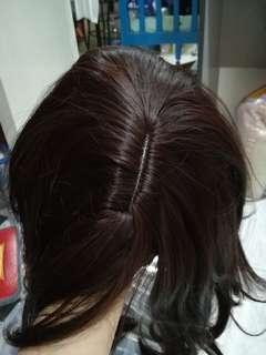 Cosplay Wig + Ponytail extension + clip-on fringe