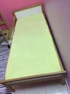 IKEA Kids Bed + Mattress + Bedsheet