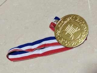 Gold award medal