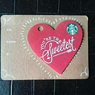 Valentine Limited Edition Heart Shaped Starbucks Mini Card