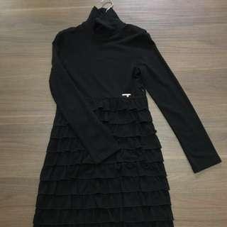歐洲彈性棉羊毛洋裝