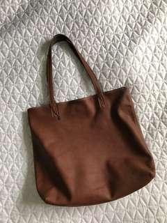NEW Reversible Leather Tote Bag from Italy