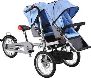 Baycle - bicycle/stroller with baby seats