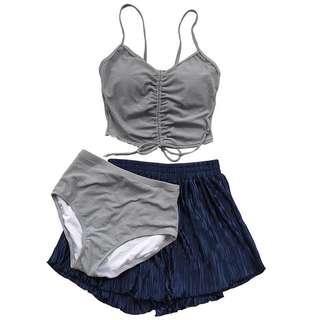 (全新)輕奢系三件組分體式泳衣