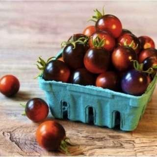 Organic Artisan Cherry Tomato 'Indigo Cherry Drops' (Solanum Lycopersicum) Vegetable Heirloom, 10 Seeds, Indeterminate, NEW