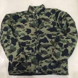 A BATHING APE CAMO DOWN JACKET 綠迷彩羽絨外套 BAPE