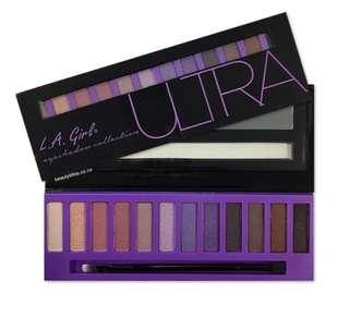 La girl 12色眼影盤Ultra紫色盤