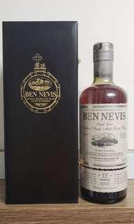 絕版單桶 Ben Nevis 2002 12年罕見Port Cask(波特/砵酒桶)熟成 威士忌 Whisky Scotch