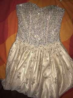 beige gown for rent