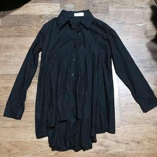 全新正韓 Q house  黑色襯衫