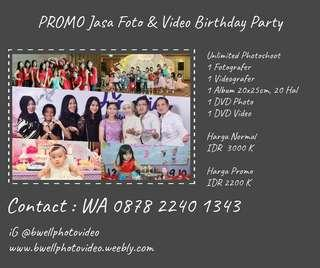 Promo Ulang Tahun birthday party