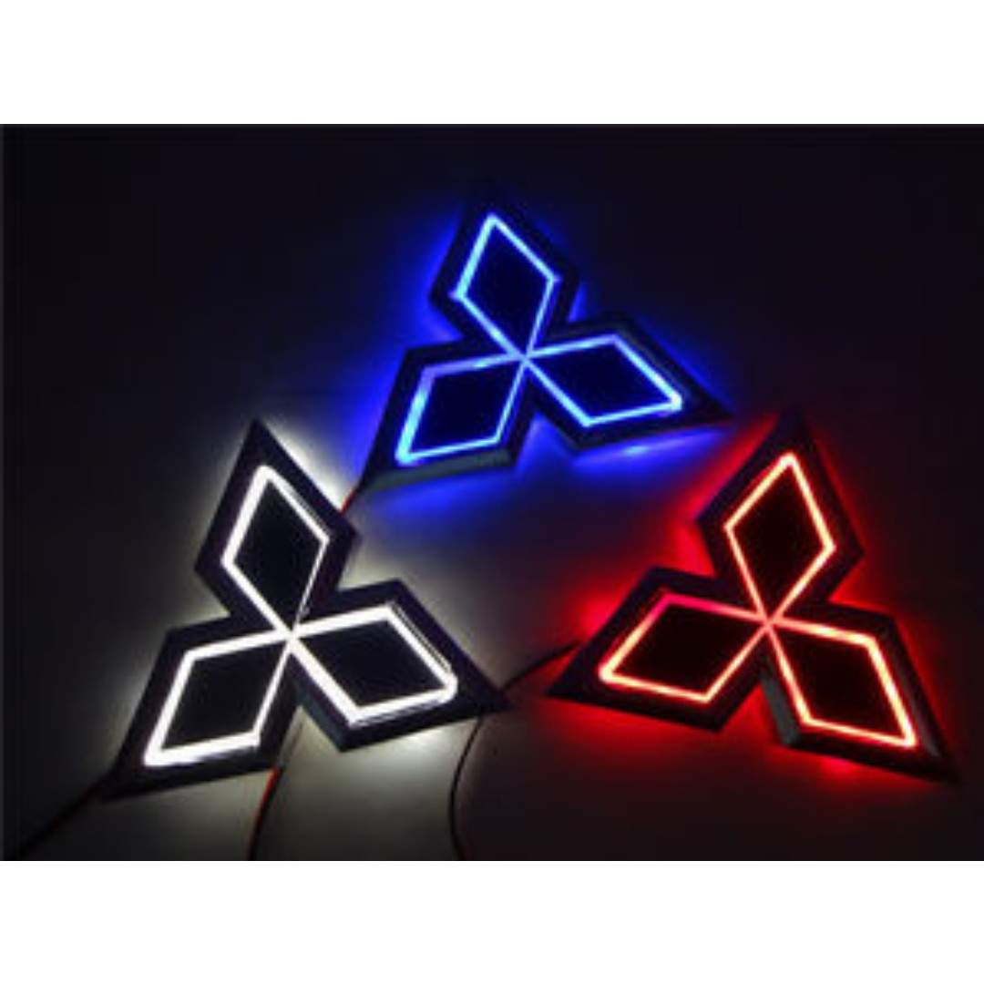 5d Led Car Emblem Badge Light For Mitsubishi Car Accessories