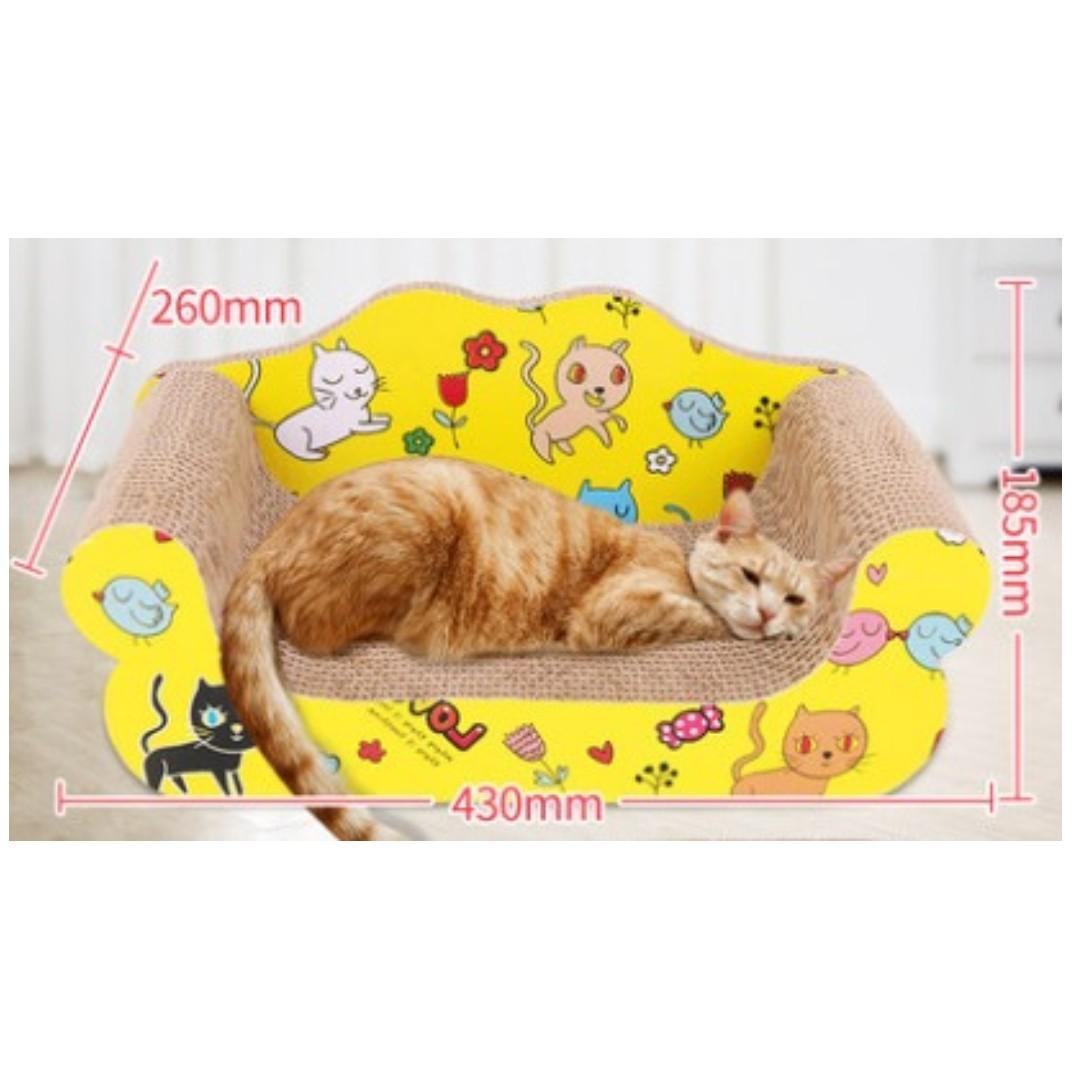 【全新*有多款選擇】特大床仔形沙發貓抓板磨爪器貓爪板瓦通楞紙耐磨墊玩具貓窩貓咪用品 Cat Scratching Board