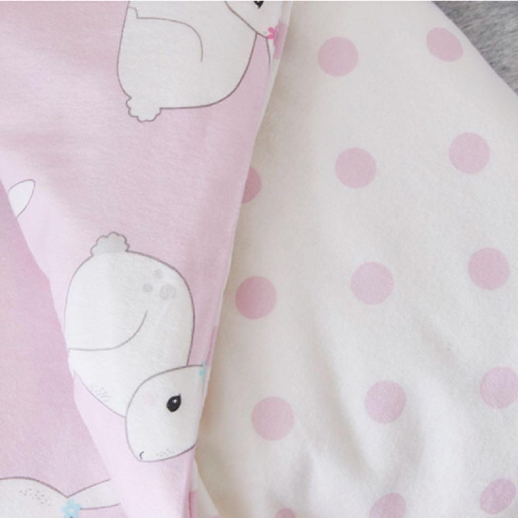 Adairs Kids Bessie Bunny Flannelette Cot Pink Quilt Cover Set