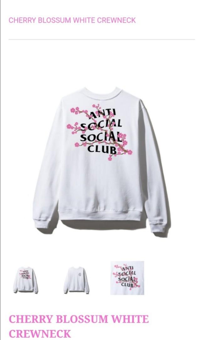 e69ebb677a0c Anti Social Social Club Cherry Blossom in WHITE