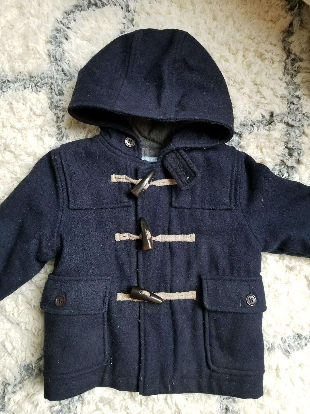 Baby Gap wool toggle coat jacket purchased New for $89. A must have for the winter holidays. Looks great for holiday parties or special occasions. A must have for baby toddler. In excellent condition. size 12-18mths.