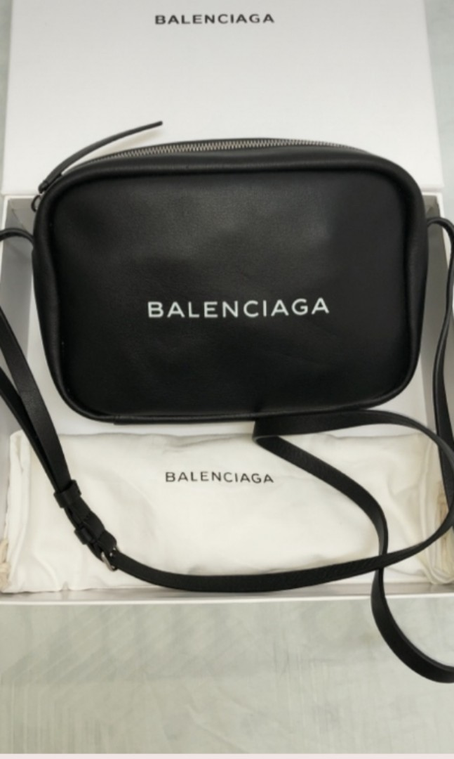 71614519fe5 Balenciaga Women's Black Logo Leather Cross-body Bag, Luxury, Bags ...