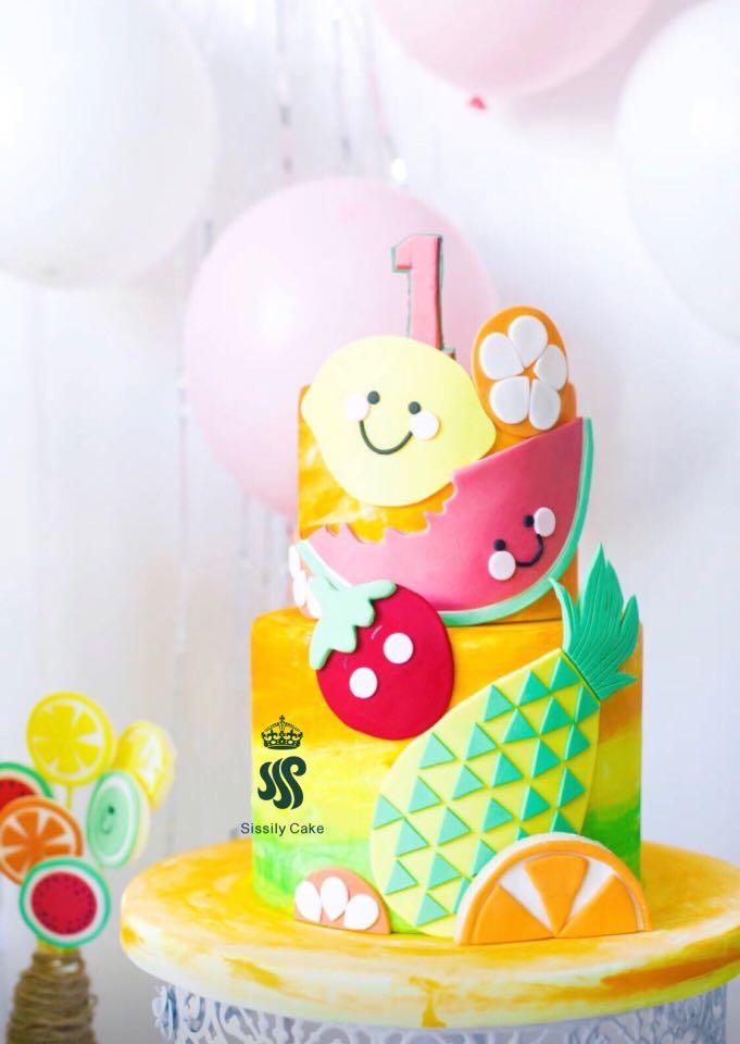 Birthday Cake Fruit Theme Food Drinks Baked Goods On Carousell