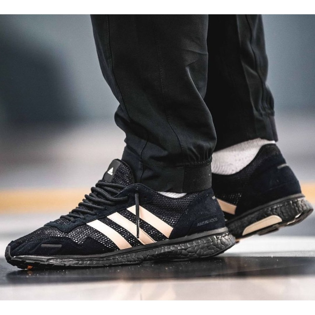 best service 92ebe a60e0 BRAND NEW ADIDAS X UNDEFEATED ADIZERO ADIOS 3 SHOES, Mens Fashion,  Footwear, Sneakers on Carousell