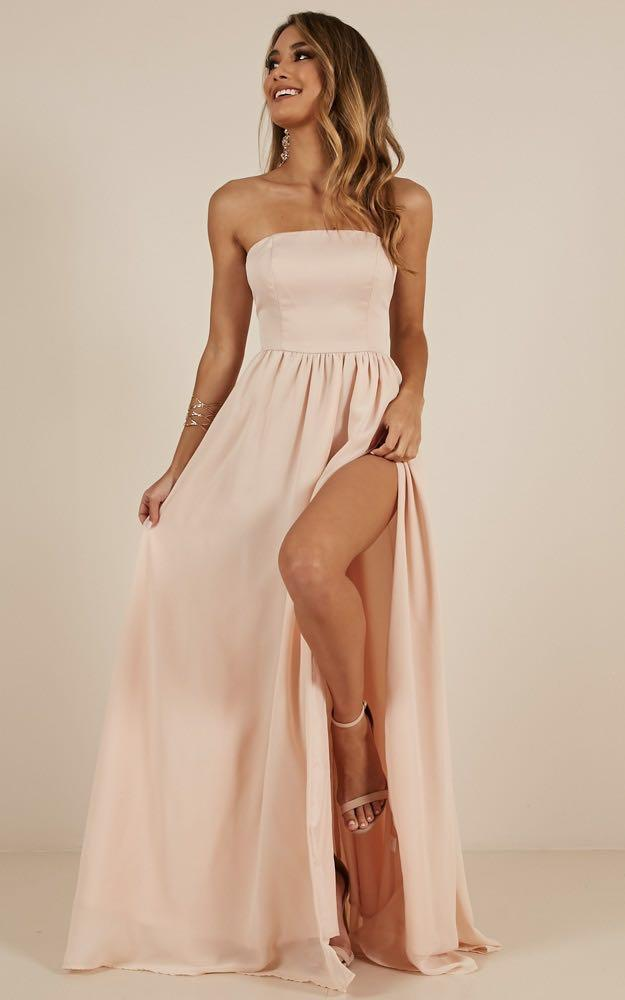 brand new champagne formal dress (with tags)