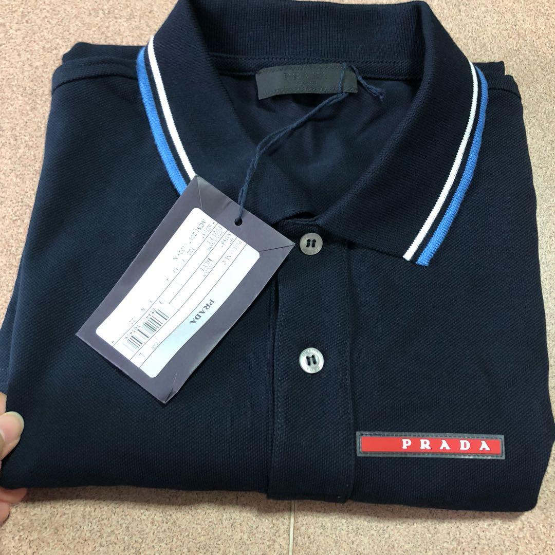 79da06dc Brand New Prada polo shirt size L, Luxury, Apparel, Men's on Carousell
