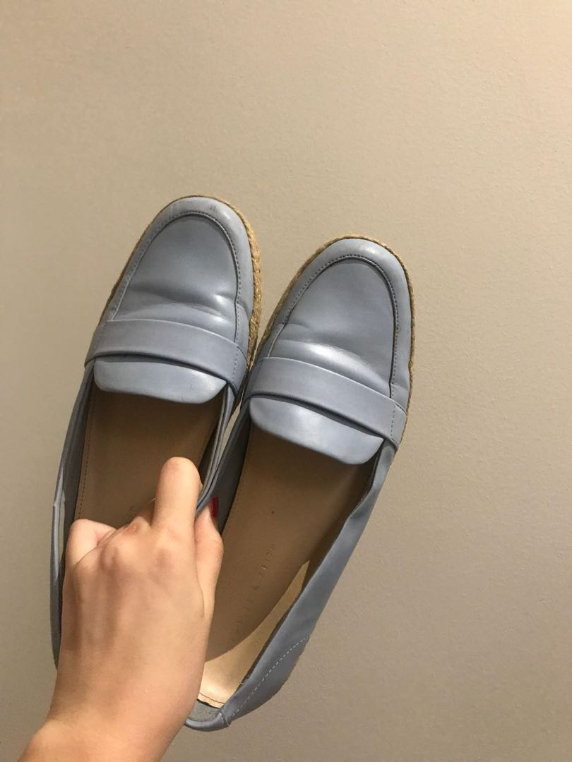 28db6f4652d Charles and Keith blue loafers