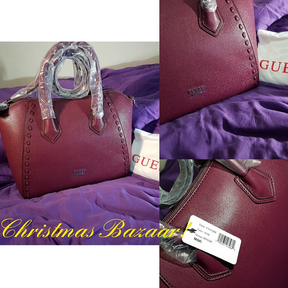 74d594d45b CHRISTMAS OFFER! Guess Deep Purple Colored Hand Bag (100% Authentic ...