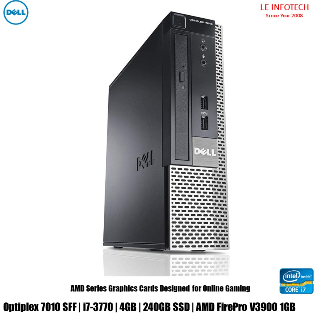 Dell Optiplex 7010 SFF Gaming Desktop i7-3770  3.4Ghz 4GB DDR3 240GB ... 4a36c101067c