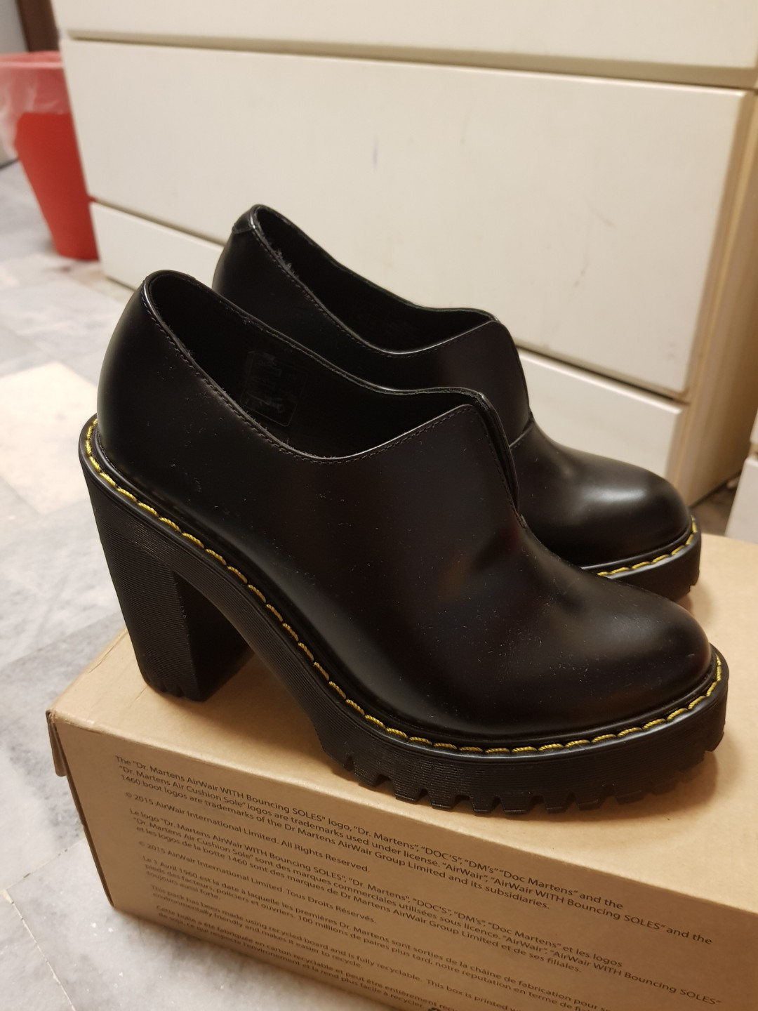 15885deef9f8d Dr Martens Cordelia Heel Boots, Women's Fashion, Shoes on Carousell