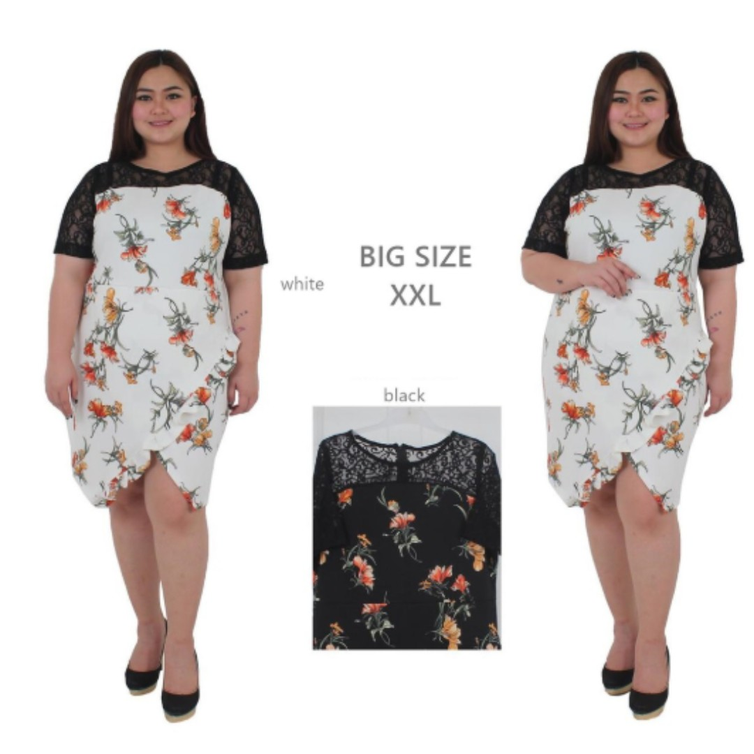 Dress Pesta Jumbo Xl Xxl Dress Bigsize Dress Brokat Jumbo Dress