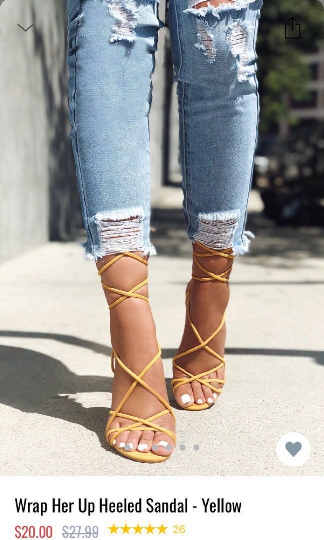 9637196b4e1 Fashion nova tie up heels, Women's Fashion, Shoes, Heels on Carousell