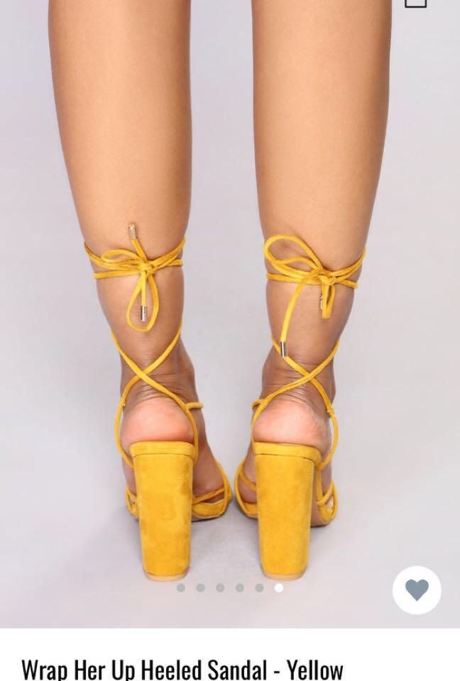 7d70f7f65af Fashion nova tie up heels