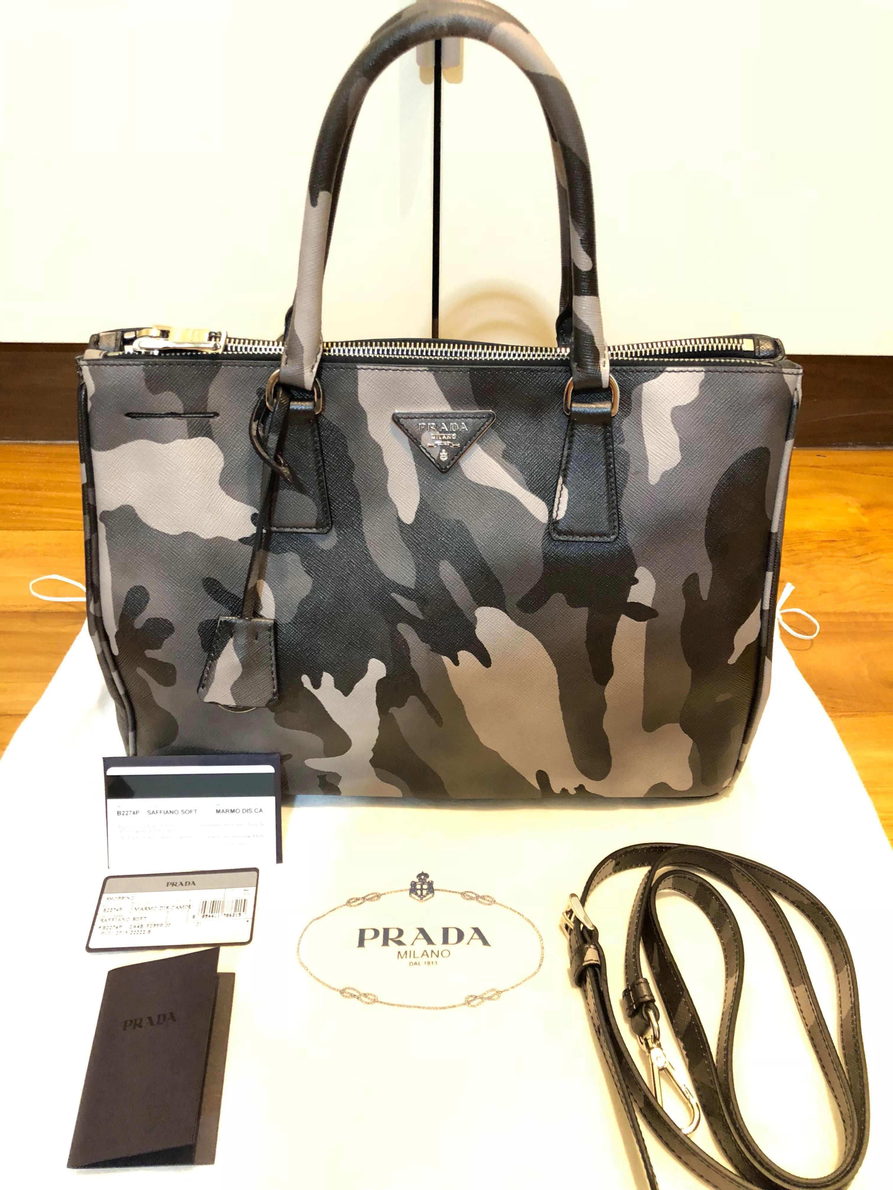 8bba573d6620 flash sale  Prada saffiano double zips 33cm brand new unused ...