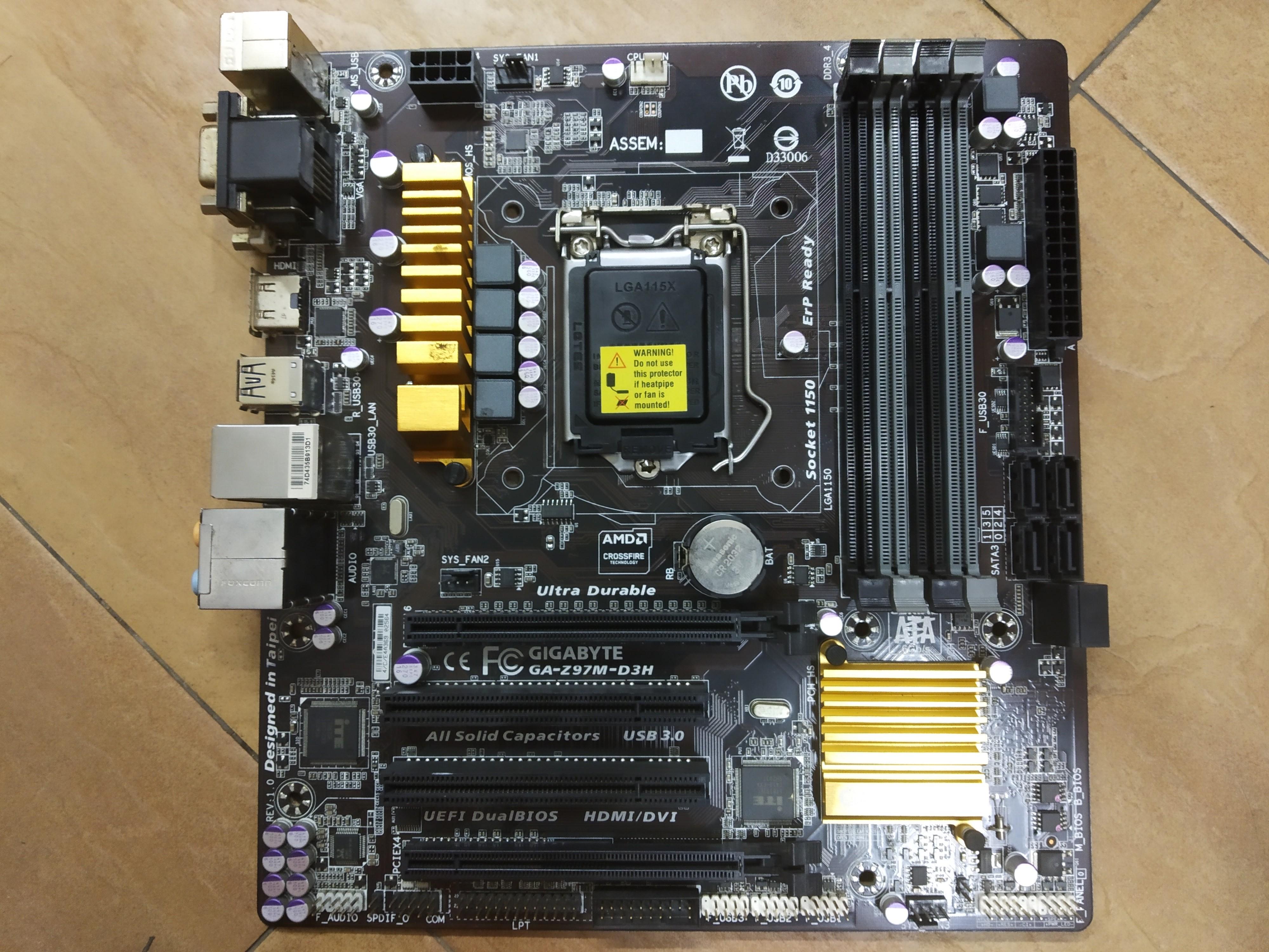 Gigabyte GA-Z97M-D3H, Electronics, Computer Parts