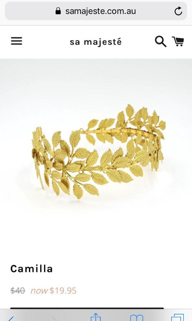 Gold headband for Melbourne Cup