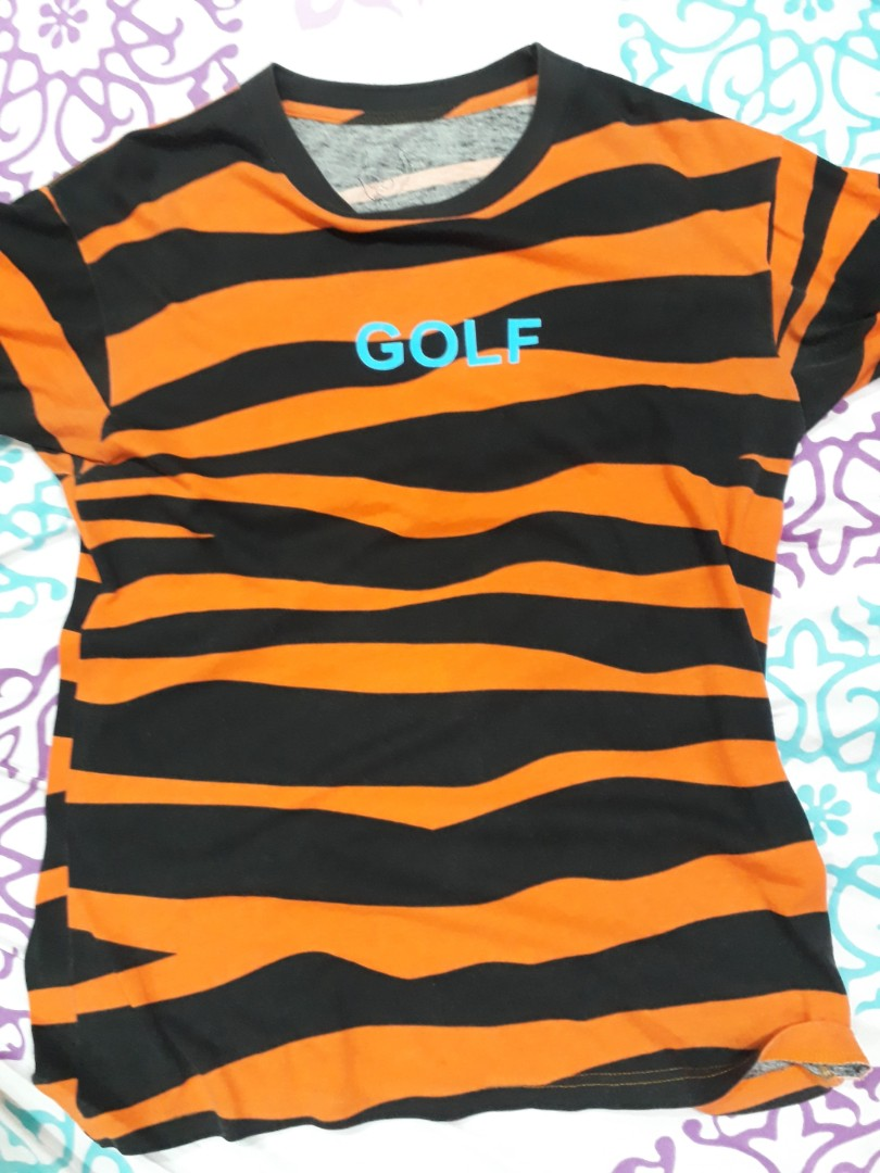 780d8a96fa Golf Wang Tiger Stripes Tee, Men's Fashion, Clothes, Tops on Carousell