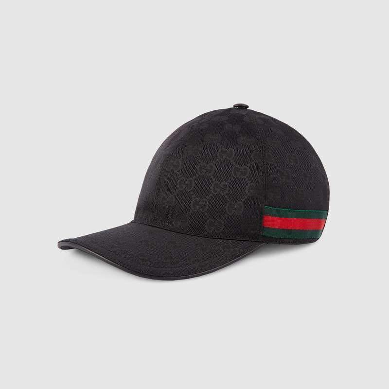 5264437076c Gucci Original GG canvas baseball hat with Web Black Size M (58cm ...