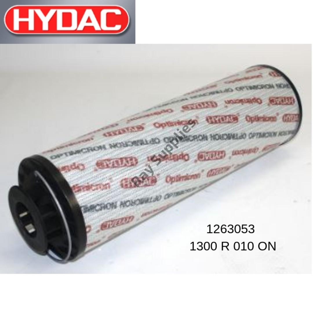 HYDAC HYDRAULIC FILTER 1263053 - 1300 R 010 ON cross ref to Donaldson  P566999/Fleetguard HF6856/Stauff RE300G10