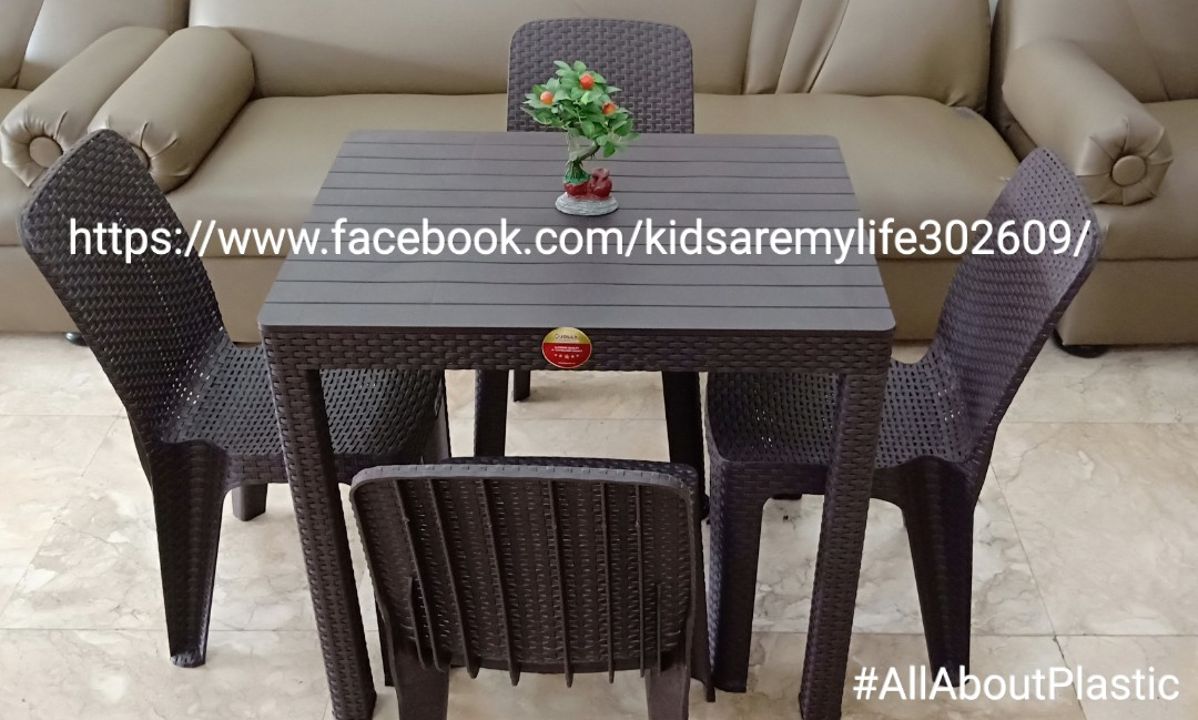 Jolly Rattan Coffee Tables Chairs Set For 4 Home Furniture On