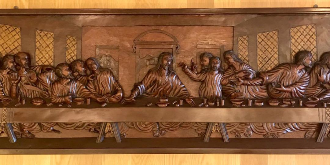 Last supper carving etsy