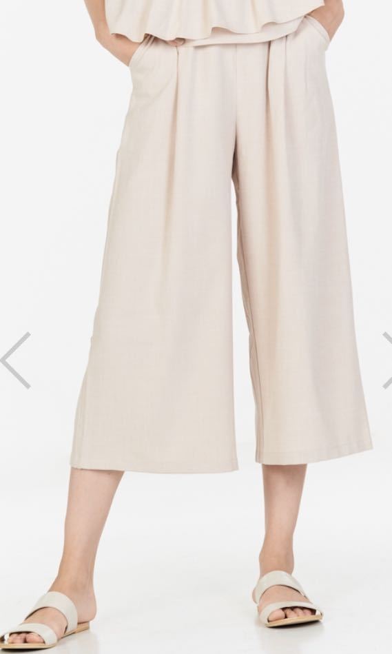 e51be452453 MERLANE CULOTTES AND TOP IN CREAM