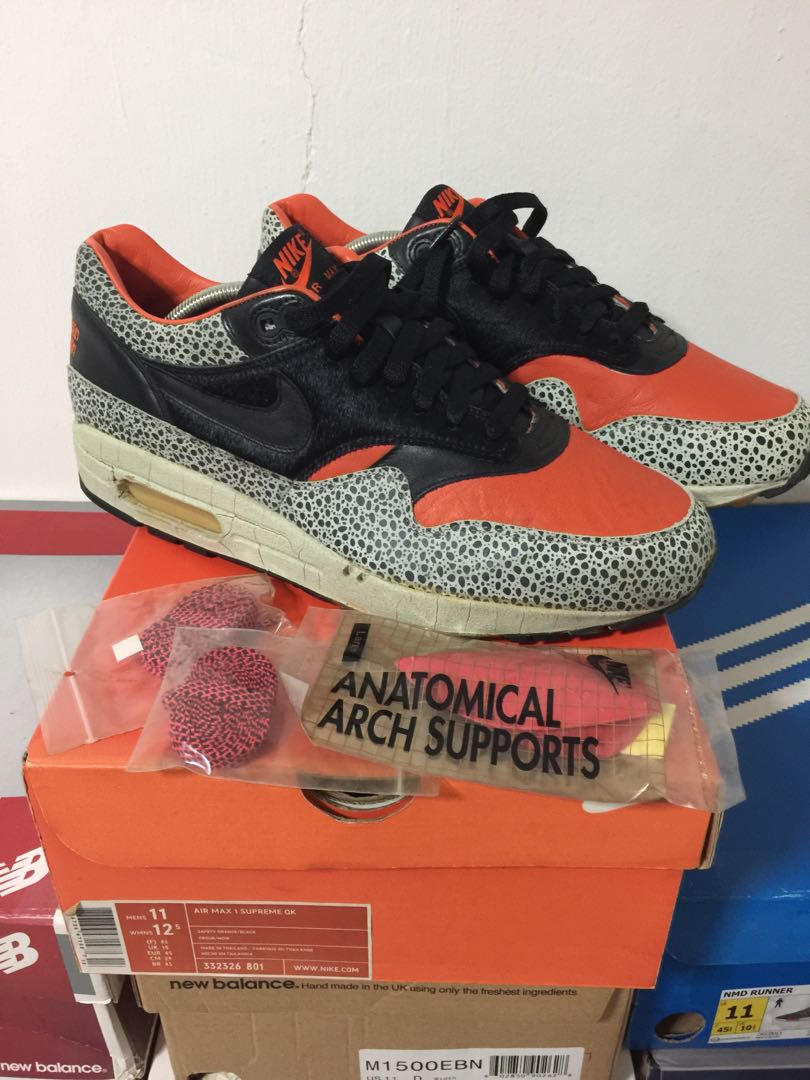 fab7012717 Nike Air Max 1 Supreme QK KRSS, Men's Fashion, Footwear, Sneakers on ...