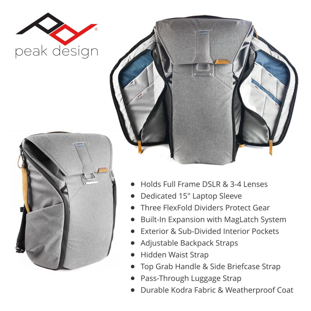 3e6e5be4dd Peak Design Everyday BackPack 20L Ash
