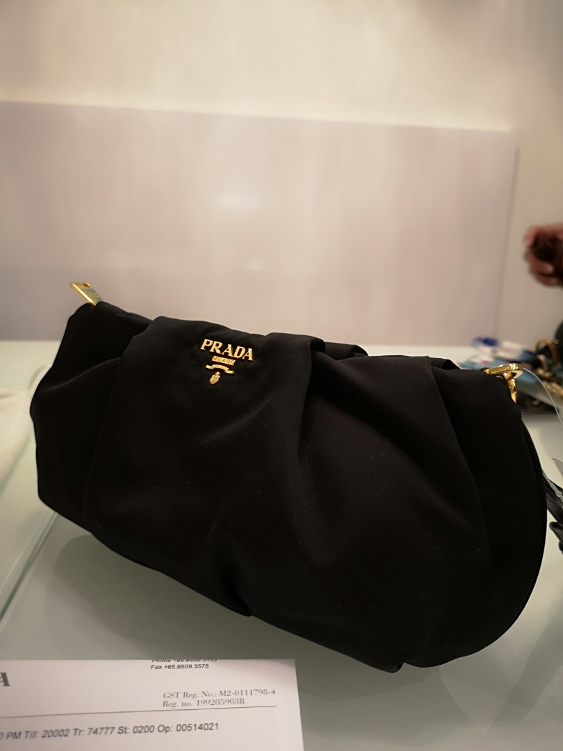 6e0b3ea9119a37 Prada wristlet /pouch authentic, Luxury, Bags & Wallets, Clutches on ...