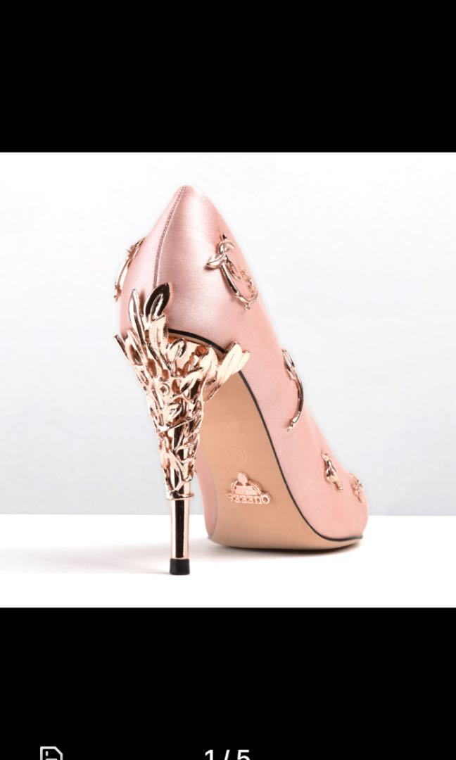 b4b9cd477d7f Ralph   Russo inspired Eden pump rose gold heels