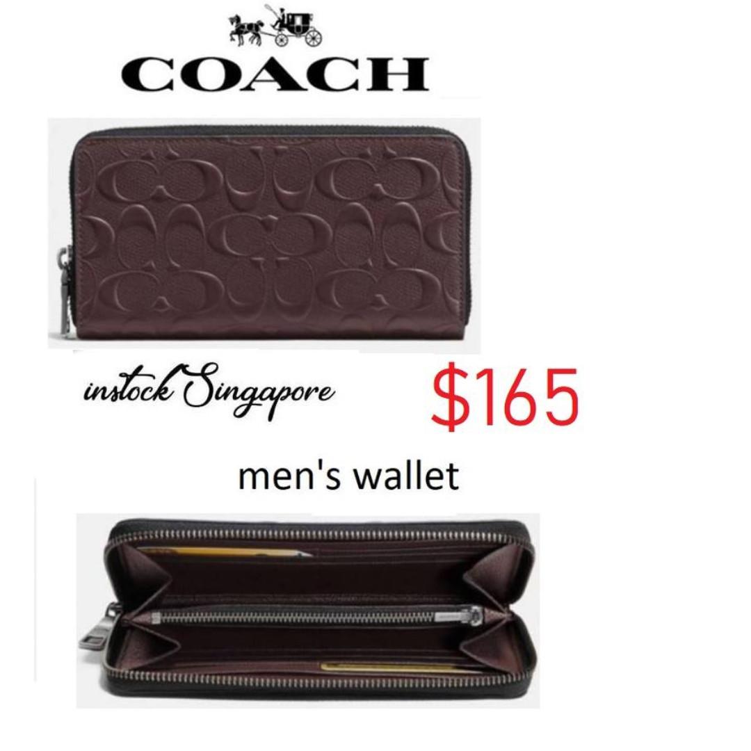 0590061718 READY STOCK authentic new Coach F58113 Men s Signature Accordion ...