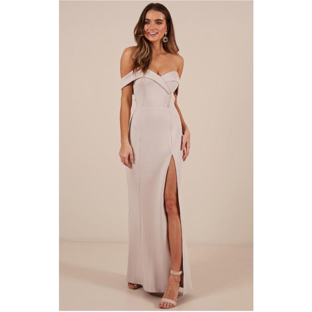 Showpo One For The Money Off Shoulder Dress
