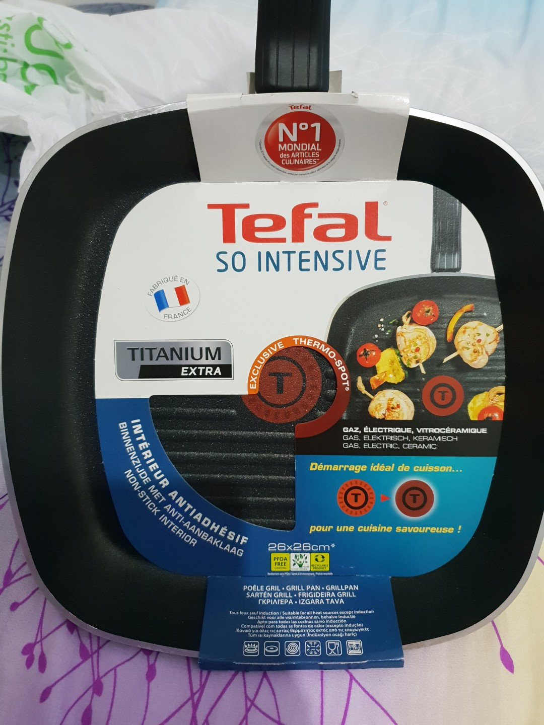 Tefal So Intensive Titanium Extra grill pan, Home Appliances