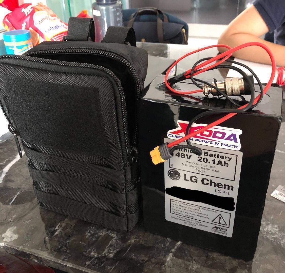 THICK & HIGH water resistance custom made battery bag