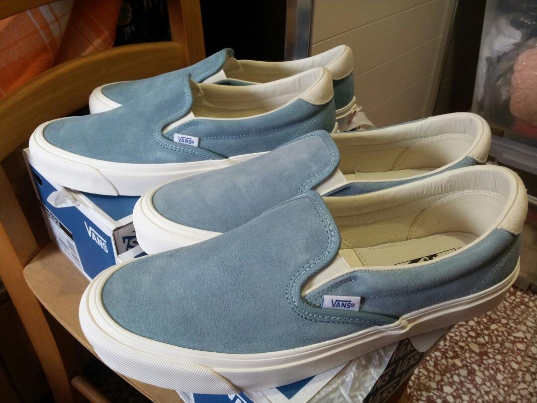 2d0214e01cb 大特價粉藍色麂皮VANS VAULT OG slip-on 59 LX SUEDE Smoke Blue